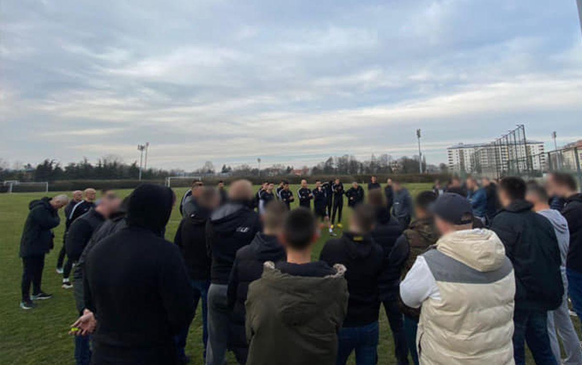 Grobari postrojili igrače Partizana na treningu!
