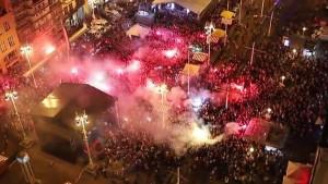 """Pogledajte kako je """"eksplodirao"""" Zagreb nakon što je sudija svirao kraj"""