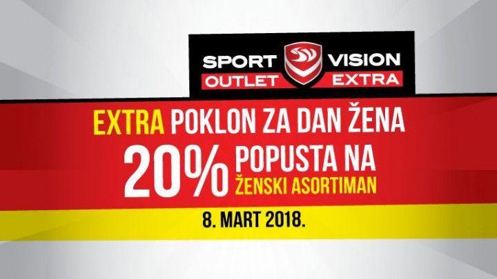 Specijalni popusti za dame u Sport Vision Outlet Extra