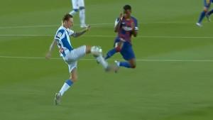 Ansu Fati na terenu proveo samo četiri minute i zbog brutalnog faula dobio direktan crveni karton