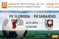 Moja TV: Direktan prijenos utakmice Sloboda - Sarajevo