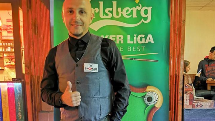 Robert Kovačević i Zlatan Fuka osvajači 2. kola Carlsberg snooker državnog prvenstva BiH