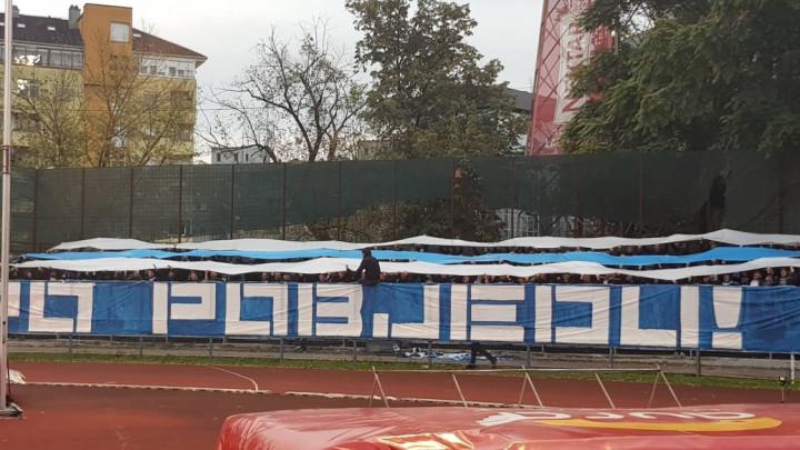 Stigla je velika podrška za FK Željezničar, a tu je i transparent