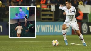 Pogledajte reakciju Ronaldove djece kada su ga vidjeli da postiže gol