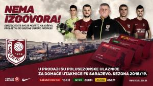 Polusezonske ulaznice za utakmice FK Sarajevo od danas u prodaji